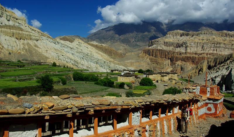 Les moulins à prière de Tetang au Mustang